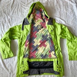 Quicksilver Men's Lime Green Ski/Snowboard Jacket